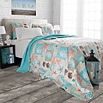 Nottingham Home Nautical Starfish Full/Queen Quilt Set in Nautical Blue