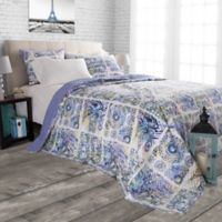 Nottingham Home Melody Twin Quilt Set in Blue