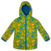 Stephen Joseph® Size 4T Construction Raincoat in Green