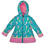 Stephen Joseph® Size 2T Mermaid Raincoat in Teal