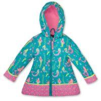Stephen Joseph® Size 2T Mermaid Raincoat in Teal
