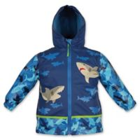 Stephen Joseph® Size 4T Shark Raincoat in Blue