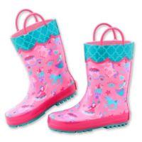 Stephen Joseph® Size 13 Princess Rain Boot in Pink