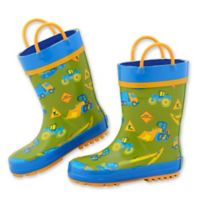 Stephen Joseph® Size 10 Construction Rain Boot in Green