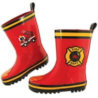 Stephen Joseph® Size 7 Fire Truck Rain Boot in Red