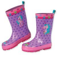 Stephen Joseph® Size 6 Unicorn Rain Boot in Purple