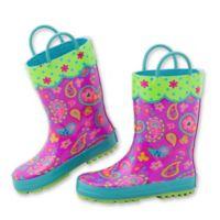 Stephen Joseph® Size 13 Paisley Rain Boot in Purple