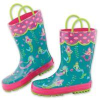 Stephen Joseph® Size 13 Mermaid Rain Boot in Teal