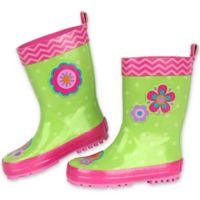 Stephen Joseph® Size 7 Flower Rain Boot in Green