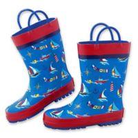 Stephen Joseph® Size 13 Nautical Rain Boot in Blue