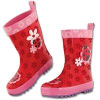 Stephen Joseph® Size 11 Ladybug Rain Boot in Red