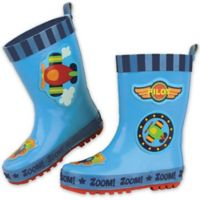 Stephen Joseph® Size 6 Airplane Rain Boot in Blue