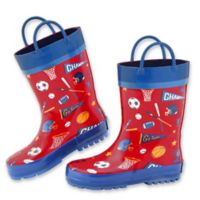 Stephen Joseph® Size 10 Sports Rain Boot in Red