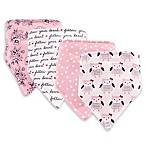 Hudson Baby 4-Pack Owls Bandana Bib Set in Pink