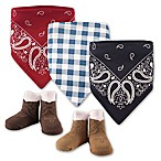 Hudson Baby® 5-Pack Cowboy Bib & Sock Set in Red