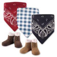 Hudson Baby® 5-Pack Cowboy Bib & Sock Set in Red