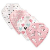 Hudson Baby® 4-Pack Birds Cotton/Fleece Bandana Bibs in Pink