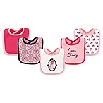 Hudson Baby® 5-Pack Fancy Owl Drooler Bib Set in Pink
