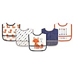 Hudson Baby® 5-Pack PEVA Fox Drooler Bib Set in Orange