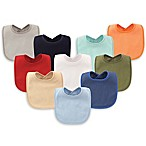 Hudson Baby® 10-Pack Drooler Bibs with Waterproof Lining in Blue