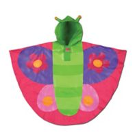 Stephen Joseph® Size 4-7 Butterfly Rain Poncho in Pink