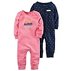 carter's® Size 3M 2-Pack  Hello Sweetheart  Coverall in Pink