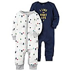 carter's® Size 6M 2-Pack Night Life Coverall in Navy