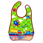 Stephen Joseph® Transportation Wipeable Bib in Green