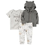 carter's® Newborn 3-Piece Babysoft Little Jacket, Shirt, and Pant Set in Grey