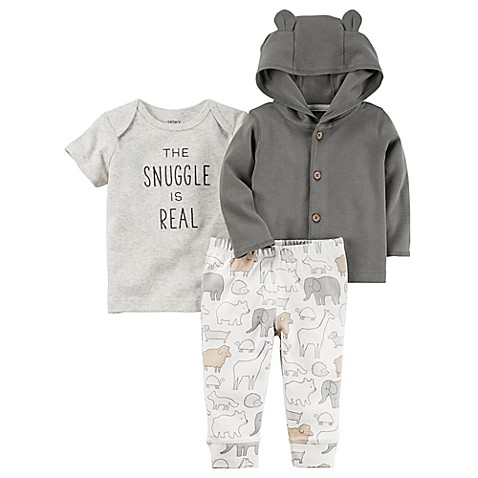 carter's® Size 9M 3-Piece Babysoft Little Jacket, Shirt, and Pant Set in Grey