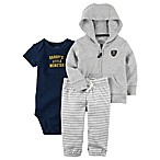 carter's® Size 9M 3-Piece Little Monster Bodysuit, Hoodie, and Pant Set in Grey