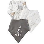 carter's® 3-Pack  Hi  Bandana Bibs in Grey