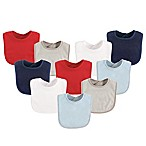 Luvable Friends® 10-Pack Drooler Bibs in Red