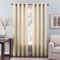 Nuance 108-Inch Grommet Top Lined Window Curtain Panel in Ivory