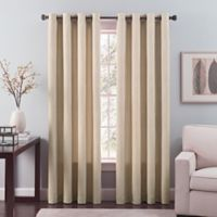 Nuance 84-Inch Grommet Top Lined Window Curtain Panel in Khaki