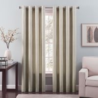 Nuance 84-Inch Grommet Top Lined Window Curtain Panel in Platinum