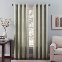 Nuance 108-Inch Grommet Top Lined Window Curtain Panel in Blue