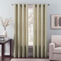 Nuance 84-Inch Grommet Top Lined Window Curtain Panel in Green Tea