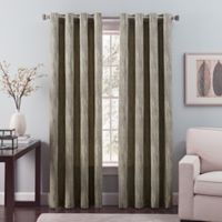 Nuance 84-Inch Grommet Top Lined Window Curtain Panel in Black