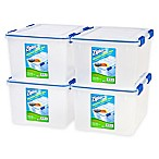 Ziploc® WeatherShield 44 qt. Storage Boxes in Clear (Set of 4)