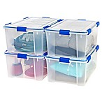 Ziploc® WeatherShield 60 qt. Storage Boxes in Clear (Set of 4)