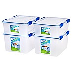 Ziploc® WeatherShield 26.5 qt. and 44 qt. Storage Boxes in Clear (Set of 4)