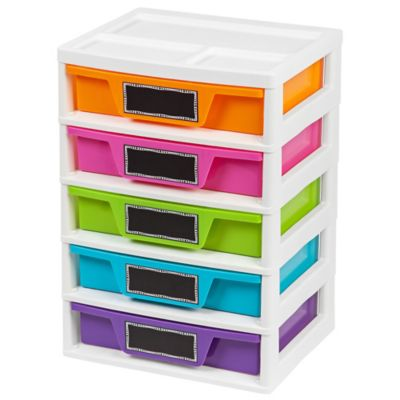 IRIS® 5 Drawer Storage And Organizer Chests (Set Of 2)