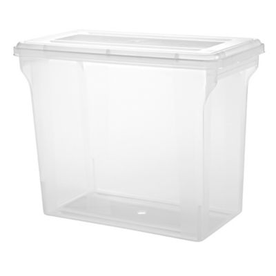 IRIS 12 Inch Clear Scrapbook File Boxes Set of 4 Bed Bath Beyond