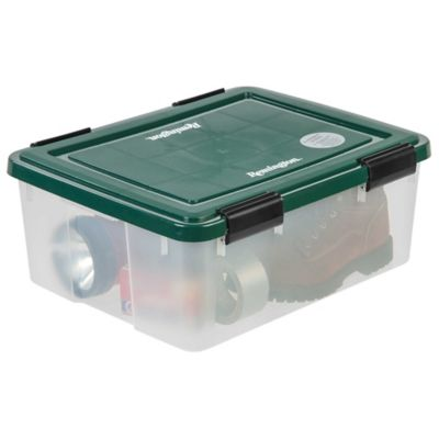 Remington® Weathertight® Storage Boxes In Clear/Green (