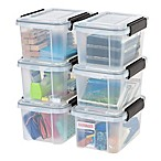 IRIS® 6.5 qt. Weathertight® Clear Storage Boxes (Set of 6)