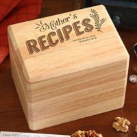 Mother's Recipes Wooden Recipe Box