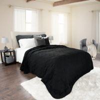 Nottingham Home Solid Full/Queen Quilt in Black