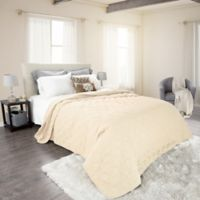 Nottingham Home Solid Full/Queen Quilt in Ivory