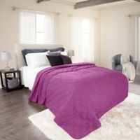 Nottingham Home Solid King Quilt in Purple